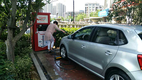 陶总加盟好车友自助洗车机创业